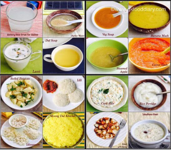 Những thực phẩm nên cho bé ăn khi bị tiêu chảy