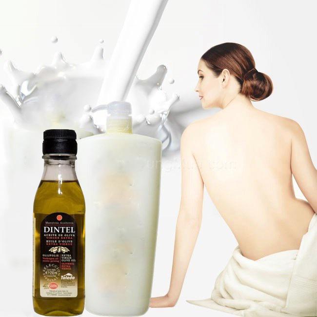 Dầu olive kết hợp với sữa tắm sẽ trị sạch mụn toàn thân